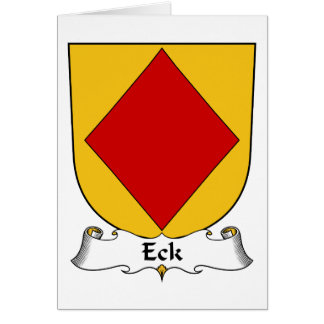 Escudo de la familia de Eck Tarjetón