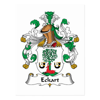 Escudo de la familia de Eckart Tarjeta Postal