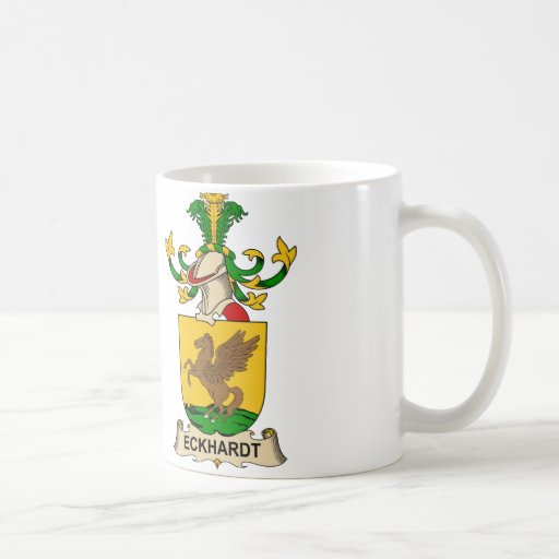 Escudo de la familia de Eckhardt Taza De Café