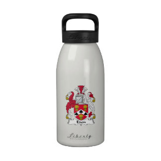 Escudo de la familia de Eden Botella De Agua Reutilizable