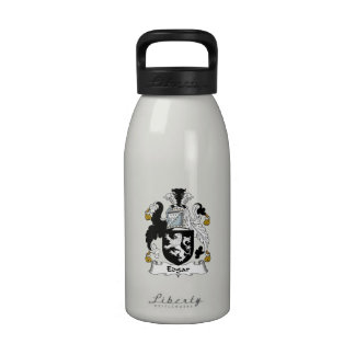 Escudo de la familia de Edgar Botellas De Agua Reutilizables