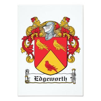 Escudo de la familia de Edgeworth Invitación 12,7 X 17,8 Cm