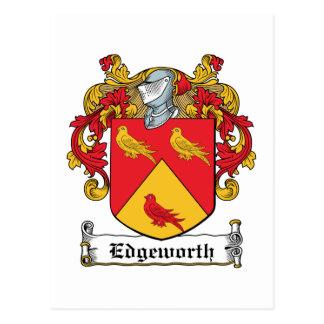 Escudo de la familia de Edgeworth Postales
