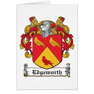 Escudo de la familia de Edgeworth Tarjetas