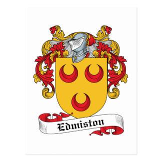 Escudo de la familia de Edmiston Tarjeta Postal