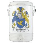 Escudo de la familia de Edmonds Vaso Enfriador Igloo