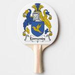 Escudo de la familia de Edmonds Pala De Tenis De Mesa