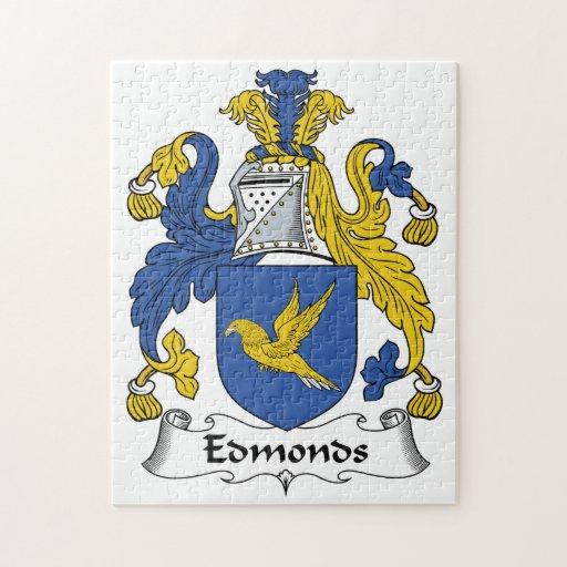 Escudo de la familia de Edmonds Rompecabeza Con Fotos
