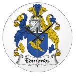 Escudo de la familia de Edmonds Reloj De Pared