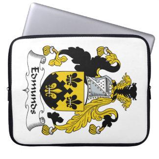 Escudo de la familia de Edmunds Fundas Computadoras