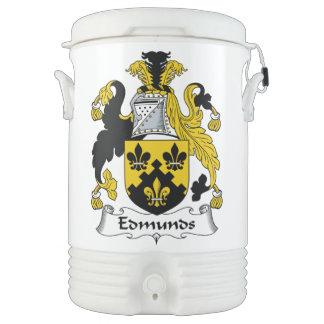 Escudo de la familia de Edmunds Vaso Enfriador Igloo