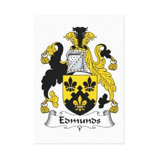 Escudo de la familia de Edmunds Impresión En Lienzo Estirada