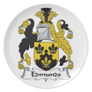 Escudo de la familia de Edmunds Plato De Comida