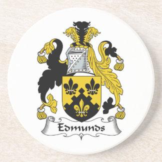 Escudo de la familia de Edmunds Posavaso Para Bebida