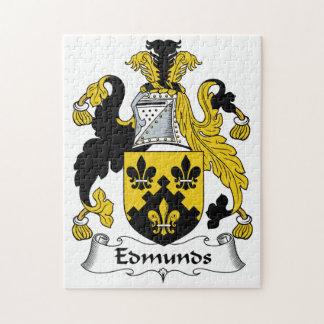 Escudo de la familia de Edmunds Rompecabezas Con Fotos