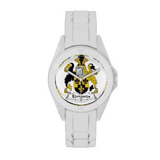 Escudo de la familia de Edmunds Reloj