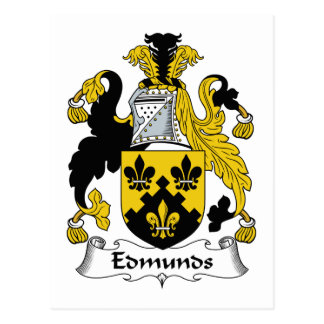 Escudo de la familia de Edmunds Tarjeta Postal