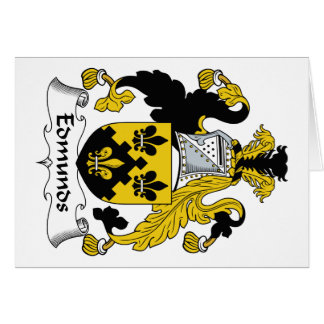 Escudo de la familia de Edmunds Tarjetón