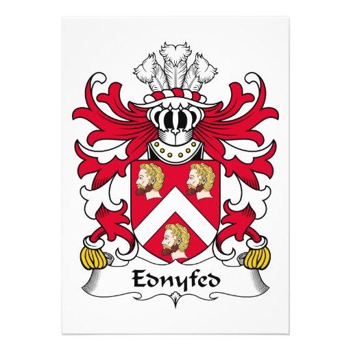 Escudo de la familia de Ednyfed Comunicado Personalizado