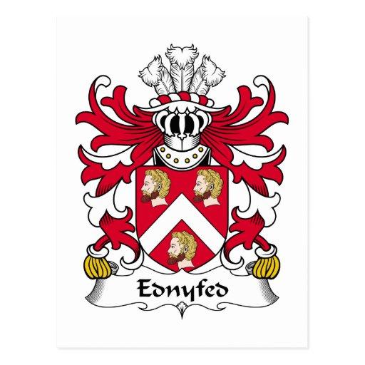 Escudo de la familia de Ednyfed Tarjetas Postales