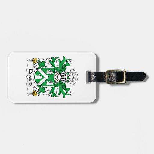 Escudo de la familia de Edward Etiqueta De Equipaje