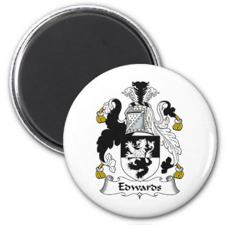 Escudo de la familia de Edwards Imán Para Frigorifico