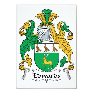 Escudo de la familia de Edwards Invitación 12,7 X 17,8 Cm