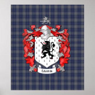 Escudo de la familia de Edwards Poster