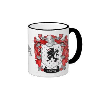 Escudo de la familia de Edwards - País de Gales Tazas De Café