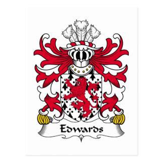 Escudo de la familia de Edwards Tarjetas Postales