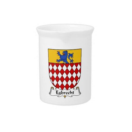 Escudo de la familia de Egbrecht Jarra Para Bebida