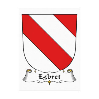 Escudo de la familia de Egbret Lienzo Envuelto Para Galerias