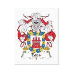 Escudo de la familia de Egea Lienzo Envuelto Para Galerias