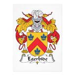 Escudo de la familia de Egerbide Invitaciones Personales