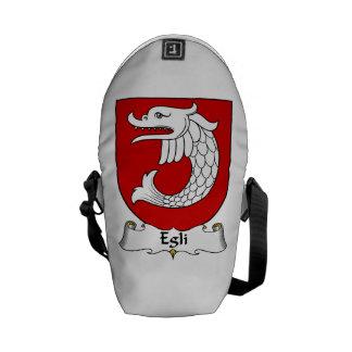 Escudo de la familia de Egli Bolsas De Mensajeria