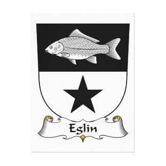 Escudo de la familia de Eglin Lienzo Envuelto Para Galerías