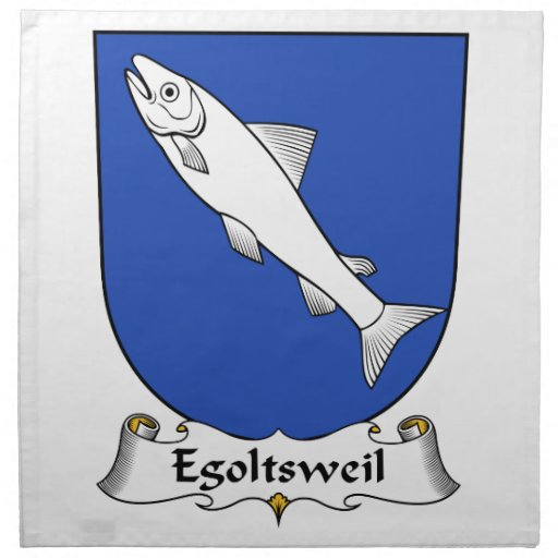 Escudo de la familia de Egoltsweil Servilletas