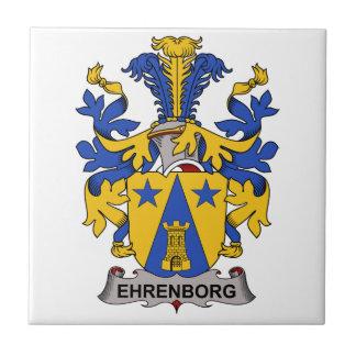 Escudo de la familia de Ehrenborg Azulejo Cuadrado Pequeño