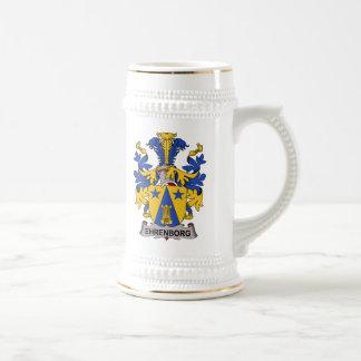 Escudo de la familia de Ehrenborg Jarra De Cerveza