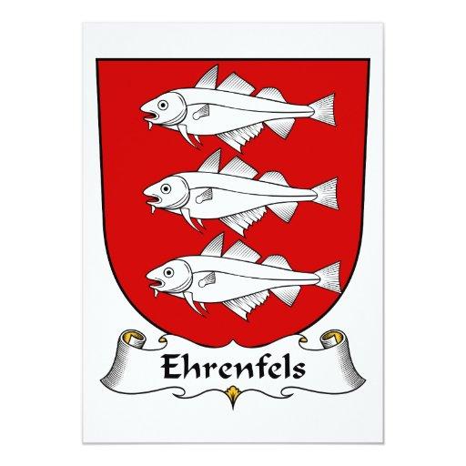 """Escudo de la familia de Ehrenfels Invitación 5"""" X 7"""""""