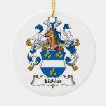 Escudo de la familia de Eichler Ornamento Para Reyes Magos