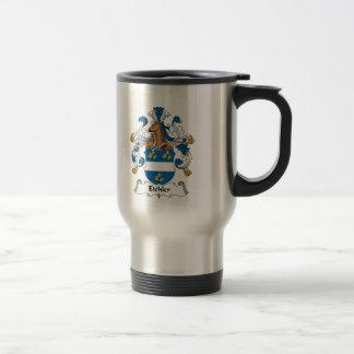 Escudo de la familia de Eichler Tazas De Café