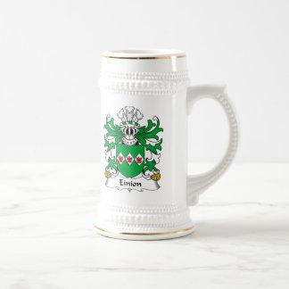 Escudo de la familia de Einion Jarra De Cerveza