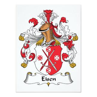 """Escudo de la familia de Eisen Invitación 6.5"""" X 8.75"""""""