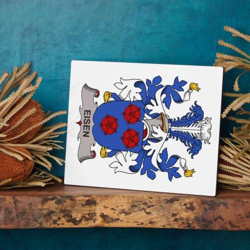 Escudo de la familia de Eisen Placa De Madera