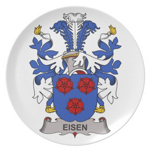 Escudo de la familia de Eisen Plato Para Fiesta