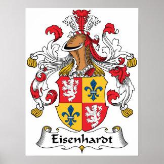 Escudo de la familia de Eisenhardt Posters