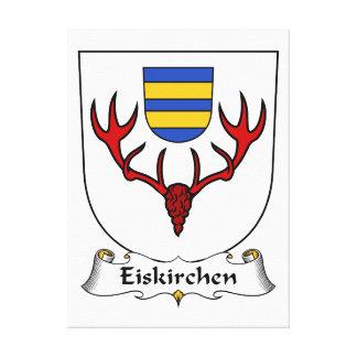Escudo de la familia de Eiskirchen Lona Envuelta Para Galerías