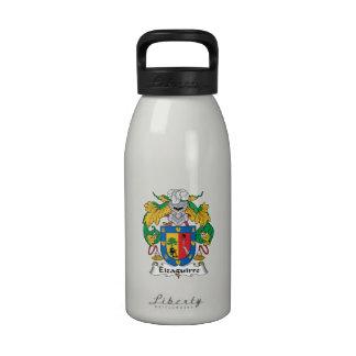 Escudo de la familia de Eizaguirre Botellas De Agua Reutilizables