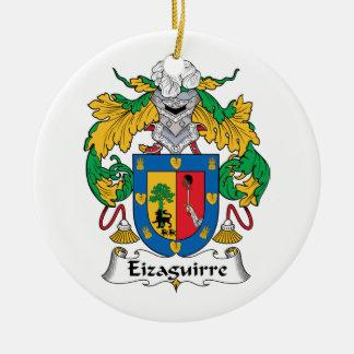 Escudo de la familia de Eizaguirre Adorno Redondo De Cerámica